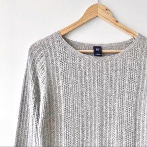 GAP Angora & Wool Blend Pointelle Sweater